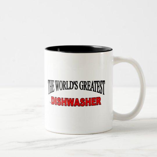 The World's Greatest Dishwasher Two-Tone Coffee Mug