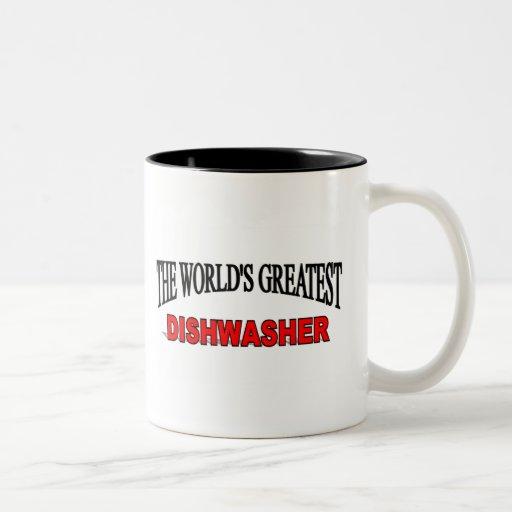 The World's Greatest Dishwasher Two-Tone Mug