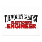 The World's Greatest Electronics Engineer Postcard