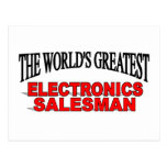 The World's Greatest Electronics Salesman Postcard