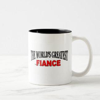 The World's Greatest Fiance Two-Tone Coffee Mug