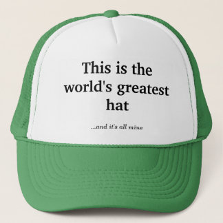 The world's greatest hat
