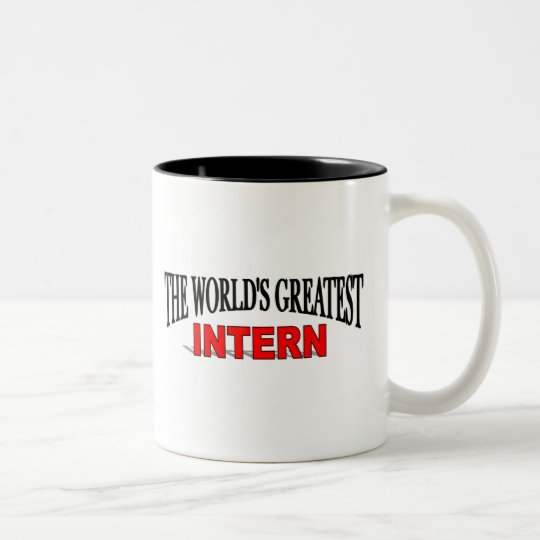 The World's Greatest Intern Two-Tone Coffee Mug