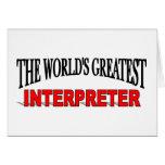 The World's Greatest Interpreter Card