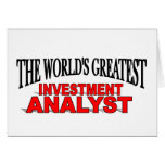 The World's Greatest Investment Analyst Card