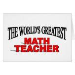 The World's Greatest Math Teacher Card