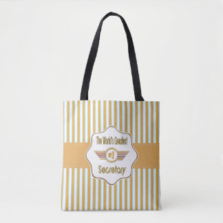 The World's Greatest Number One Secretary Tote Bag