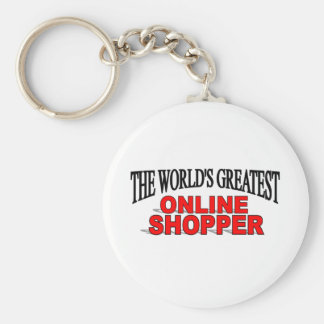 The World's Greatest Online Shopper Keychain