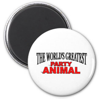The World's Greatest Party Animal 2 Inch Round Magnet