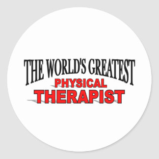 The World's Greatest Physical Therapist Round Sticker