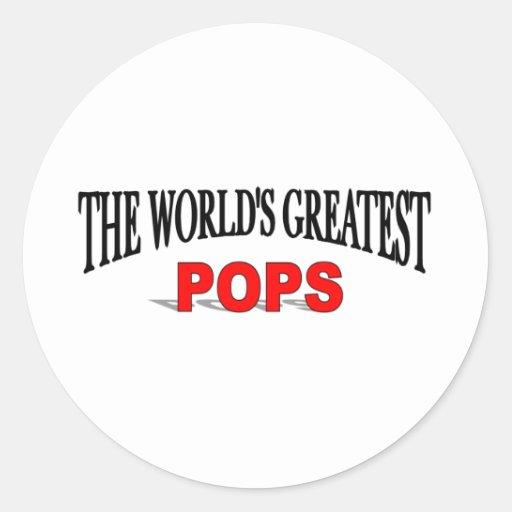 The World's Greatest Pops Round Sticker