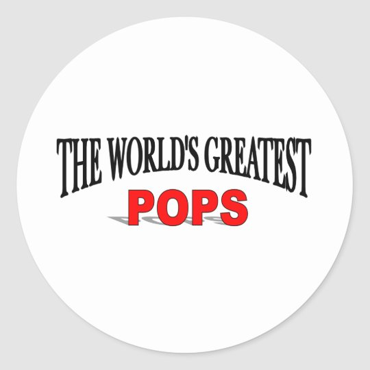 The World's Greatest Pops Round Sticker