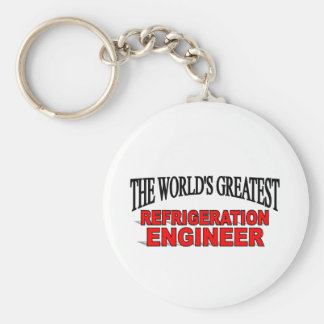 The World's Greatest Refrigeration Engineer Basic Round Button Keychain