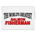 The World's Greatest Salmon Fisherman Greeting Card