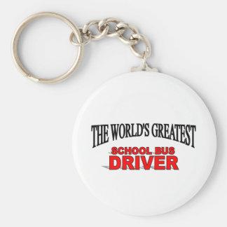 The World's Greatest School Bus Driver Basic Round Button Keychain