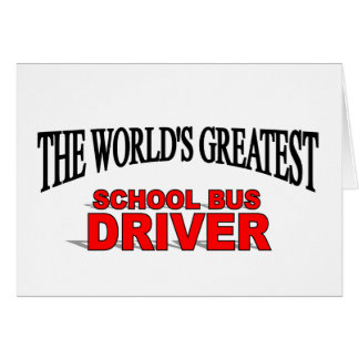 The World's Greatest School Bus Driver Cards