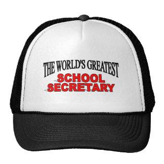 The World's Greatest School Secretary Trucker Hat