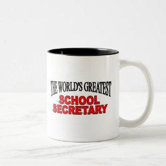 The World's Greatest School Secretary Mugs