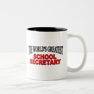 The World's Greatest School Secretary Two-Tone Coffee Mug