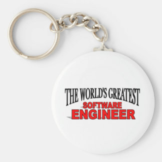 The World's Greatest Software Engineer Basic Round Button Keychain