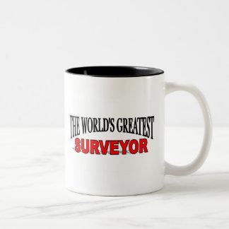 The World's Greatest Surveyor Two-Tone Coffee Mug
