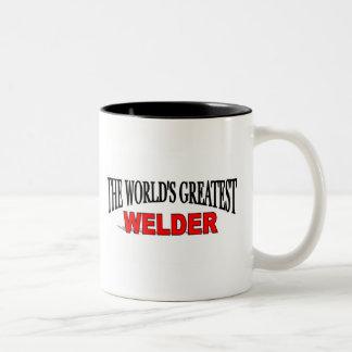 The World's Greatest Welder Two-Tone Coffee Mug