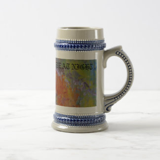 THE WORLDS  PICTURE AT NIGHT 18 OZ BEER STEIN