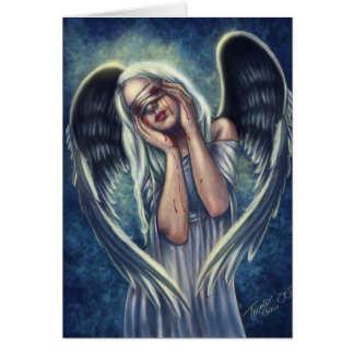 The Wounded Angel Greeting Cards