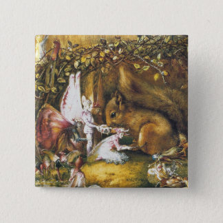 The Wounded Squirrel 2 Inch Square Button