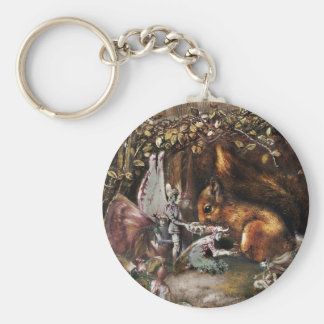 The Wounded Squirrel Keychain