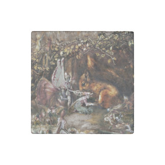 The Wounded Squirrel Stone Magnets