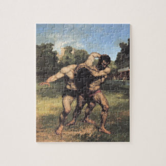 The Wrestlers by Gustave Courbet Jigsaw Puzzle