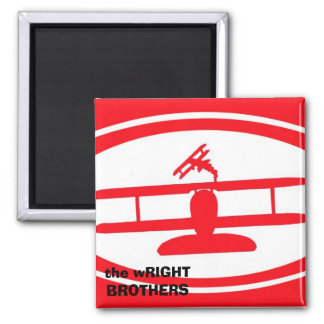 the wRIGHT BROTHERS magnent Square Magnet
