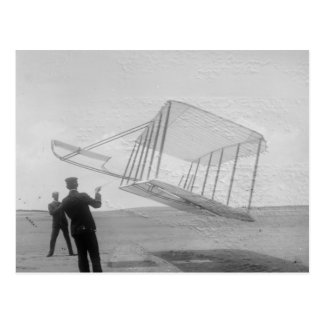 The Wright Brothers test flight Postcard