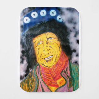 The Wrinkly Rocker Burp Cloth