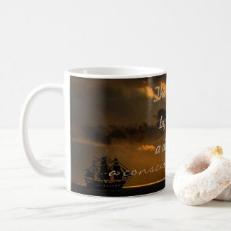 The writer is a conscious dreamer quote coffee mug
