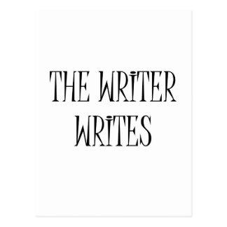 The Writer Writes Postcard