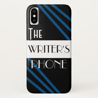 The Writer's Phone Stylish Blue Black White Case-Mate iPhone Case