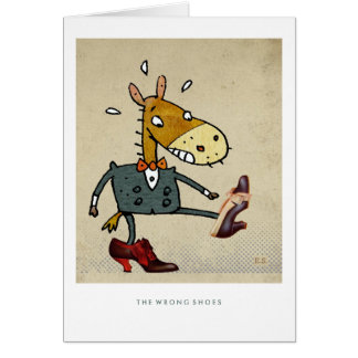 The Wrong Shoes Card