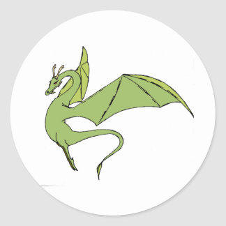 The Wyrm (green) Classic Round Sticker
