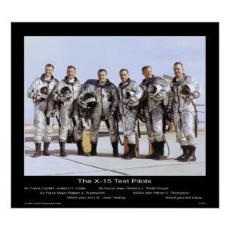 The X-15 Test Pilots – NASA Poster