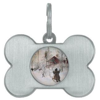 The Yard and Wash-House, Carl Larsson Pet Name Tag
