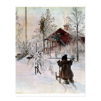 The Yard and Wash-House, Carl Larsson Postcard