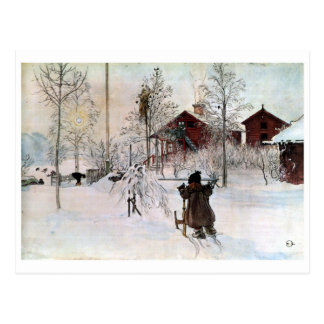 The Yard and Wash-House, Carl Larsson Postcard