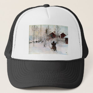 The Yard and Wash-House, Carl Larsson Trucker Hat