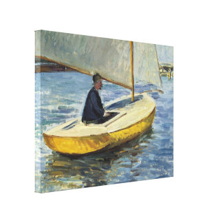 The Yellow Boat, 1891 - Gustave Caillebotte Canvas Print