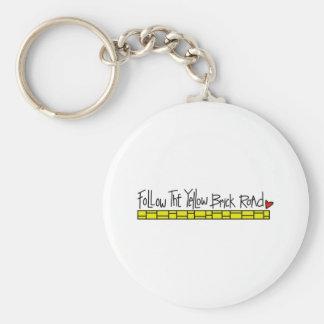 The Yellow Brick Road Basic Round Button Keychain