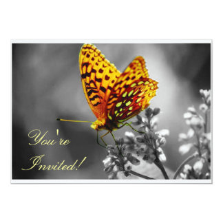 The Yellow Butterfly 5x7 Paper Invitation Card