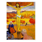 The Yellow Christ by Paul Gauguin Postcard