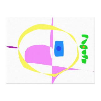 The Yellow Circle Canvas Print